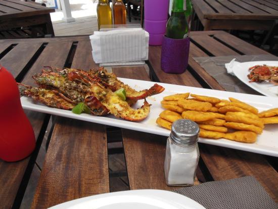 Un plato en Langosta del Caribe